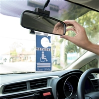 High Road Clear Vinyl Handicapped Parking Permit Sleeve