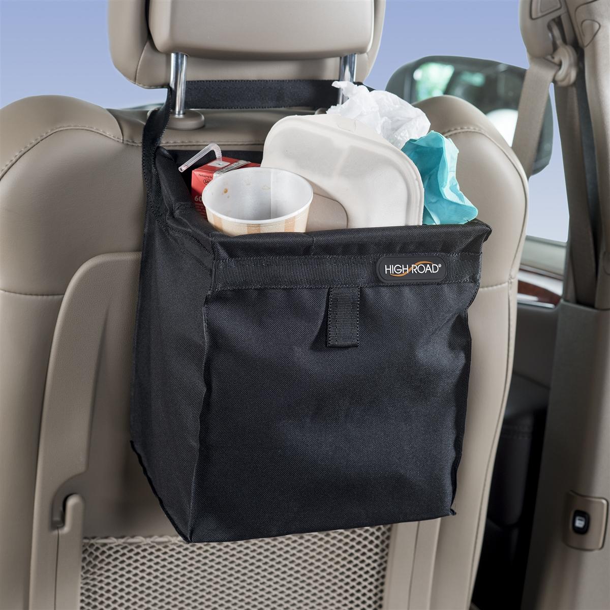 High Road Black TrashStash Hanging Car Trash Bag, a Fully Leakproof ...