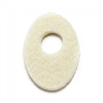 "1/8"" Large Oval-Shaped 1.5"" x 1"" Corn Pads"