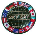 Sky Ski International Dome Sticker
