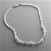 Best Selling Bridal Necklace with Pearls & Rhinestone Fireballs<br>1125N