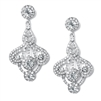 Art Deco Fan Rhinestone Earrings<br>156E-CR