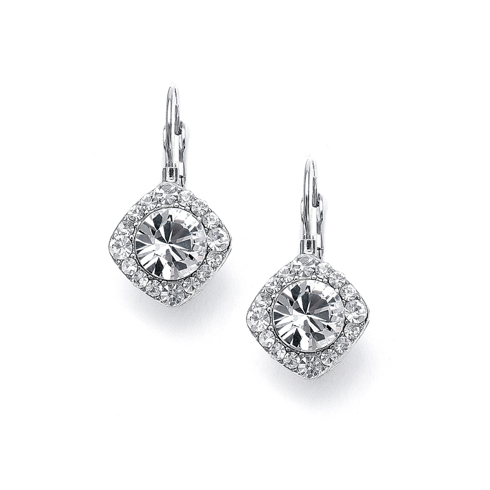 Tailored Solitaire Drop Earrings<br>209E-CR