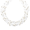 Lavish 6-Row Pearl & Crystal Bridal Illusion Necklace<br>2101N