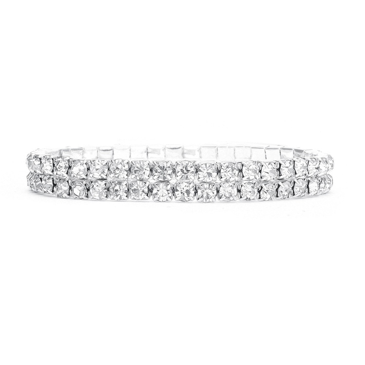 2-Row Stretch Rhinestone Bracelet<br>260B-CR