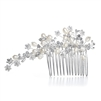 Freshwater Pearl Bridal Comb with Crystal<br>3307HC
