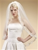 Alencon Lace Embroidered Mantilla Wedding Veil<br>3331V