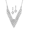 Rhinestone Vintage Bib Necklace & Earrings Set<br>3391S