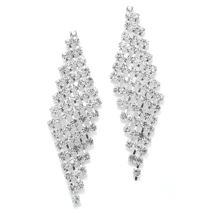Classic Wholesale Rhinestone Earrings<br>3469E