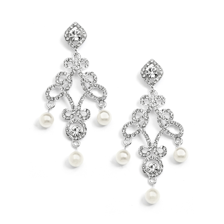 Vintage Wedding Chandelier Earrings<br>3486E