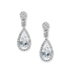 Victorian Teardrop Cubic Zirconia Wedding or Prom Earrings<br>3612E