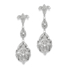 Opulent Vintage Cubic Zirconia Wedding Earrings<br>3628E