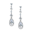 Slender Teardrop Wedding or Prom CZ Dangle Earrings<br>3647E