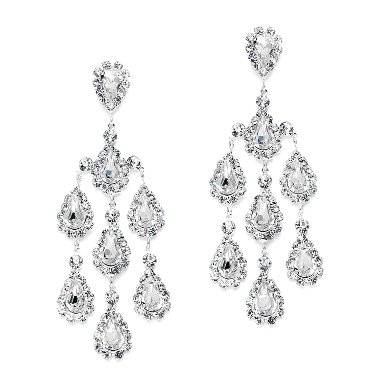 Dramatic Crystal Rhinestone Chandelier Earrings Br 3680e