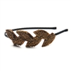 Garland Headband with Copper Beaded Leaves<br>3864HB-CP