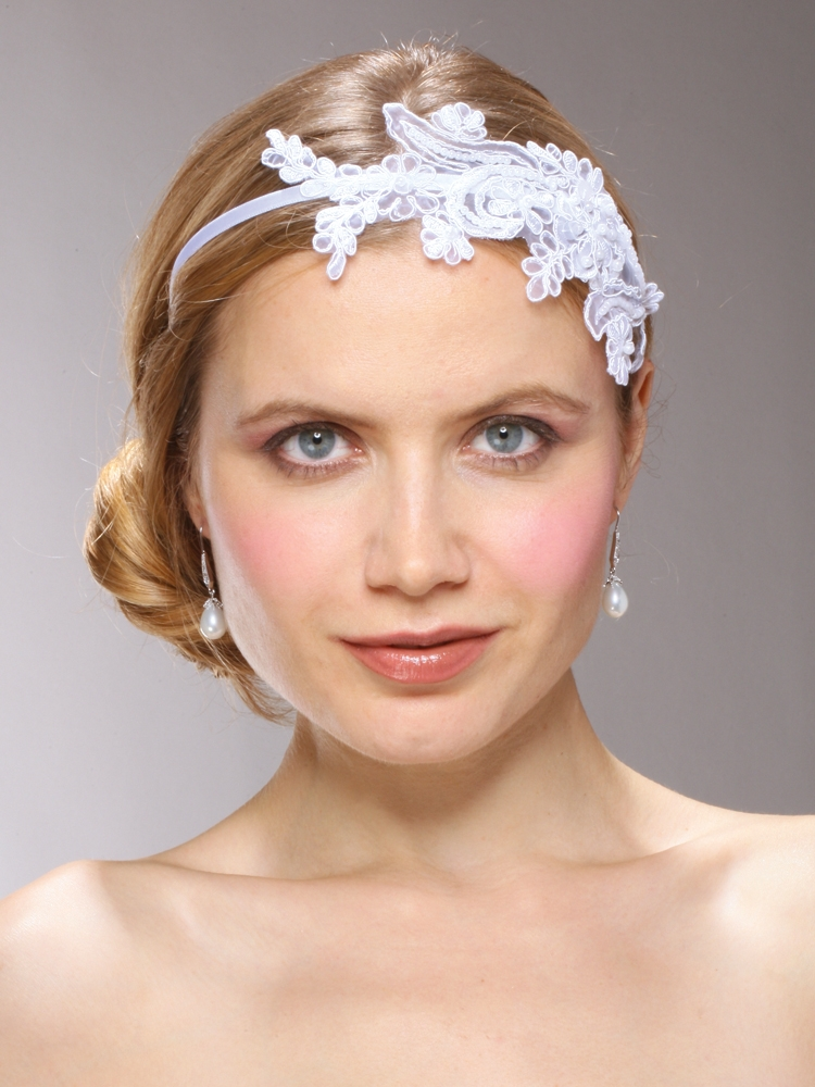 Wholesale Vintage White Lace Headband with Pearls   Sequins ... d7e88c3f037