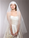 Renaissance Beaded Lace Applique Juliet Wedding Veil<br>3921V-W