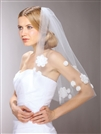 Chic 60's Mod Wedding Veil with Daisies<br>3926V