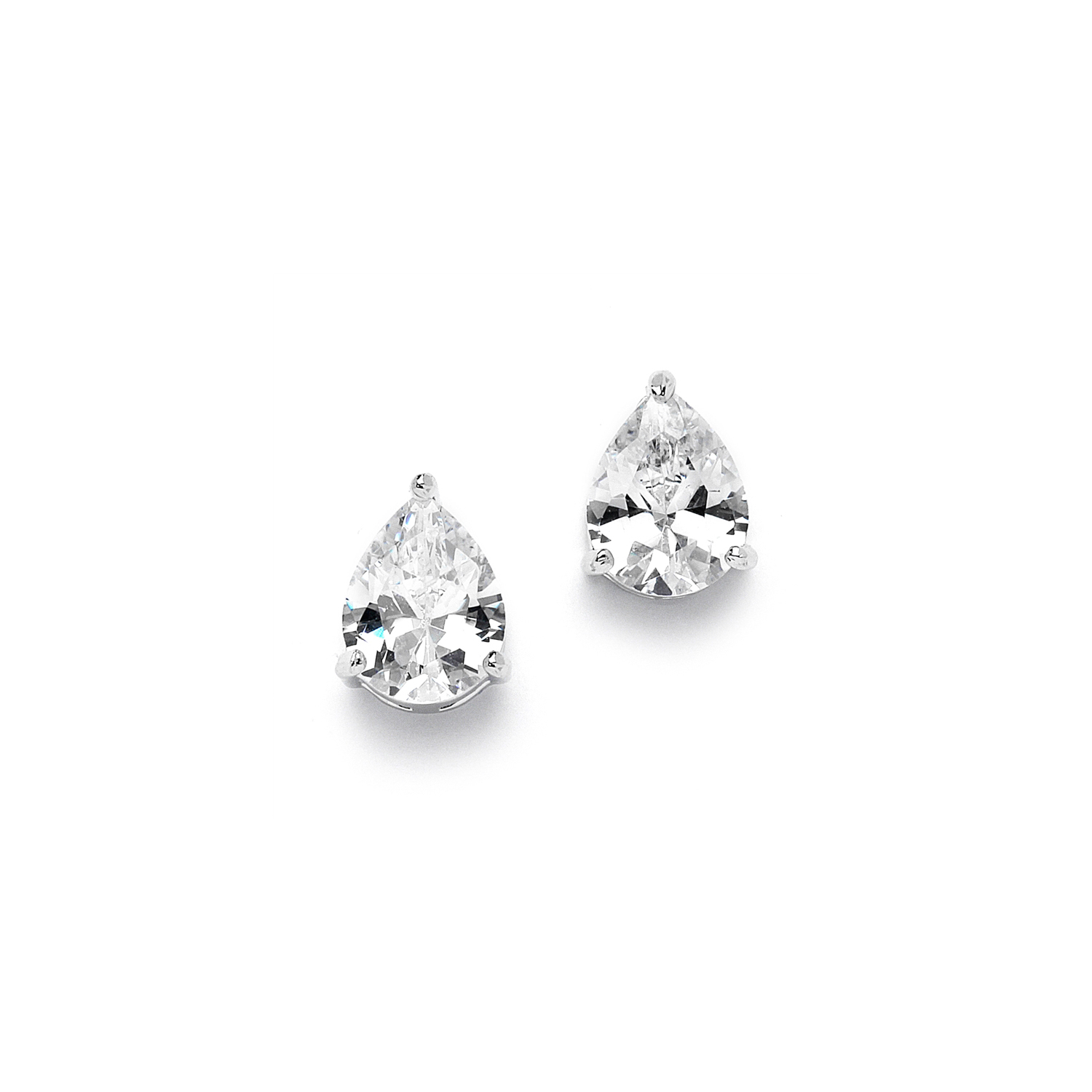 2.00 Ct. Cubic Zirconia Pear Shape Stud Earrings for Weddings or Bridesmaids<br>3989E