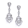 Best Selling Cubic Zirconia Dangle Wedding or Prom Earrings<br>4018E