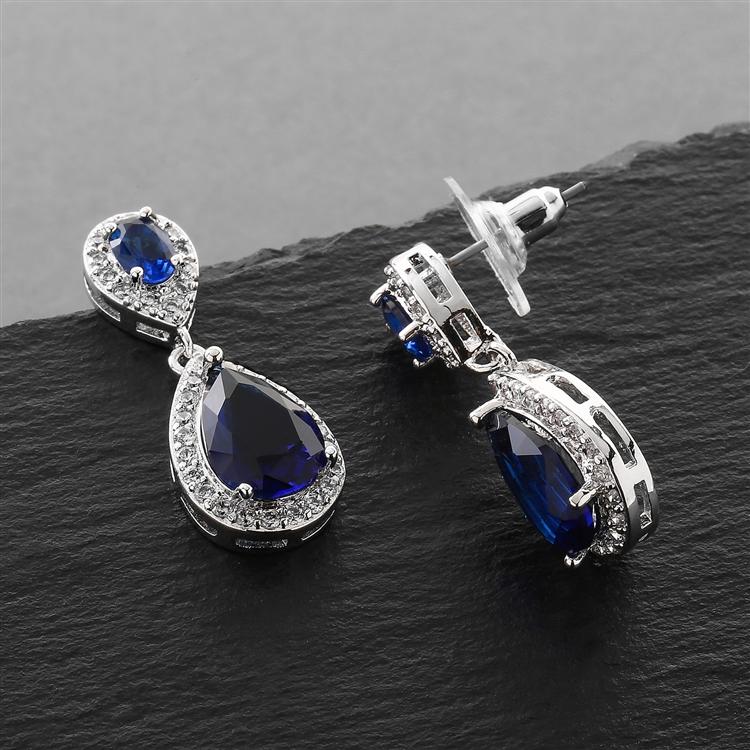 Top Ing Shire Cubic Zirconia Teardrop Wedding Or Bridesmaids Earrings Br 4036e