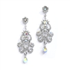 Iridescent AB Vintage Chandelier Earrings for Prom, Homecoming or Weddings<br>4054E