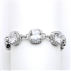 Magnificent Cushion Cut Cubic Zirconia Bridal or Pageant Bracelet<br>4069B-S-6