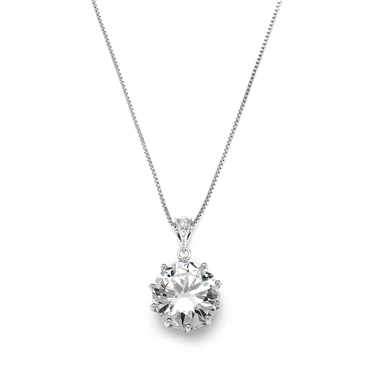 Bridal, Prom or Bridesmaids Bling CZ Necklace Pendant<br>4083N