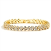 Petite Length Gold Cubic Zirconia Wedding or Prom Tennis Bracelet<br>4109B-G-6