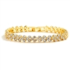 Elegant Gold Cubic Zirconia Wedding or Prom Tennis Bracelet<br>4109B-G-7