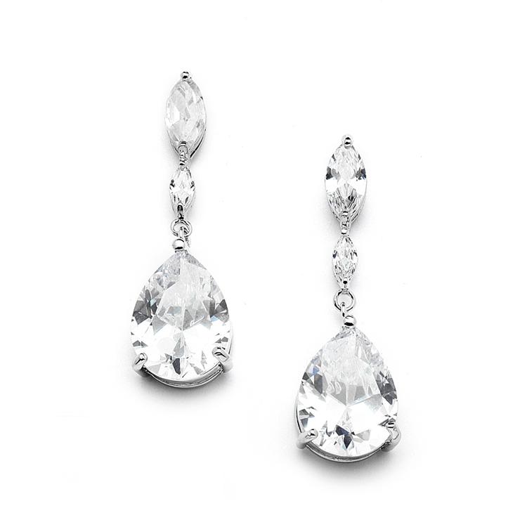 Top Ing Cubic Zirconia Wedding Earrings With Dainty