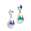 Color Splash Pear-shaped Drop Earrings - AB<br>4161E-AB