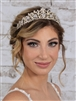 Vintage Bridal, Wedding or Prom Gold Tiara with Clear Crystals<br>4187T-G