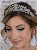 Popular Vintage Bridal, Wedding or Prom Silver Tiara with Clear Crystals<br>4187T-S