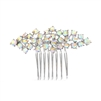 Best Selling Crystal Clusters Silver & AB Wedding or Prom Comb<br>4191HC-S-AB