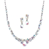 Regal AB Crystal Bridal or Prom Necklace & Earrings Set<br>4192S-AB