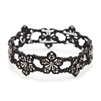 Black Diamond Filigree Flowers Stretch Bracelet for Prom or Homecoming<br>4301B-BD