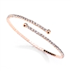 Delicate Single Row Rhinestone Coil Bracelet in Rose Gold<br>4322B-RG