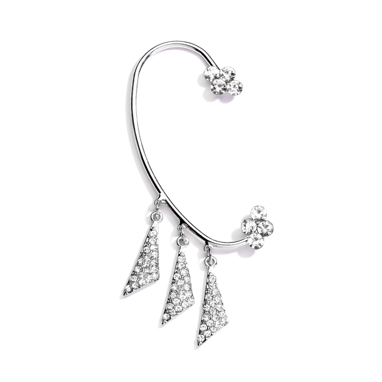 Trendy Prom Over the Ear Crystal Ear Cuff<br>4323E-S