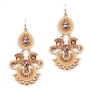 Icing on the Cake Chandelier Earrings with Pink Gems<br>4365E-PCH-G