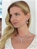 Luxurious CZ Vine Wedding Necklace and Earrings Set<br>4368S-S
