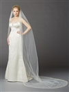 Breathtaking 1 Layer Cathedral Wedding Veil with Dramatic Crystal, Pearl and Beaded Edging<br>4424V-I