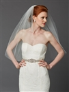 Classic Waist or Elbow Length Single Layer Cut Edge Wedding Veil<br>4433V-30-I