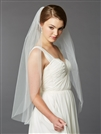 Best Selling Fingertip Length Single Layer Cut Edge Bridal Veil<br>4433V-36-I