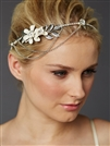 Hand-Enameled Floral Headband Crown with Preciosa Crystal Drapes<br>4446HB-I-S