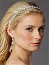Silver Bridal Headband with Genuine Preciosa Crystals<br>4455HB-S-I