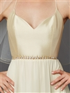 Gold Bridal Belt with Genuine Preciosa Crystals<br>4464BT-G-I