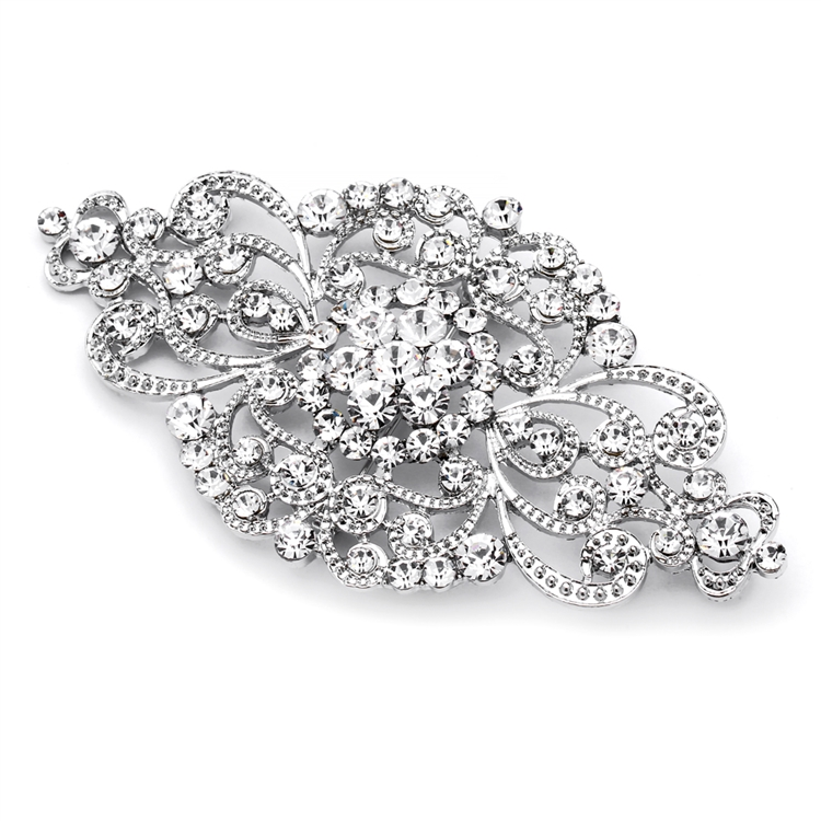 Best Selling Vintage Art Deco Bridal Brooch<br>4574P-S