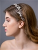Bridal Ribbon Headband with Soft cream Flowers