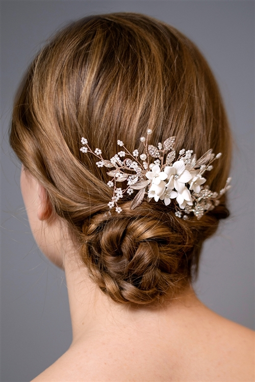 Wholesale Rose Gold Bridal Wedding Hair Accessories And Pink Gold Combs Mariell